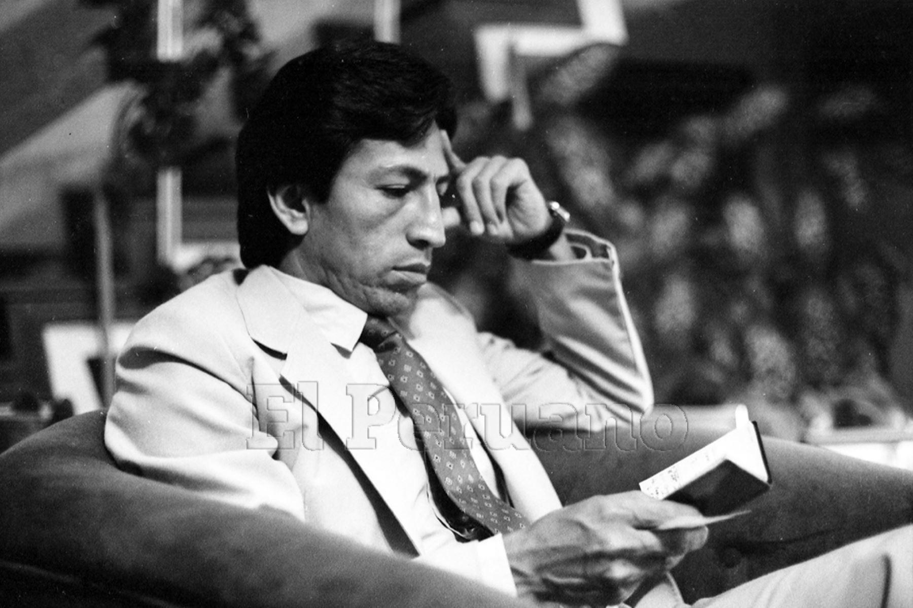 Lima - 14 marzo 1984 / Entrevista al economista Alejandro Toledo Manrique.  Foto: Archivo Histórico de EL PERUANO