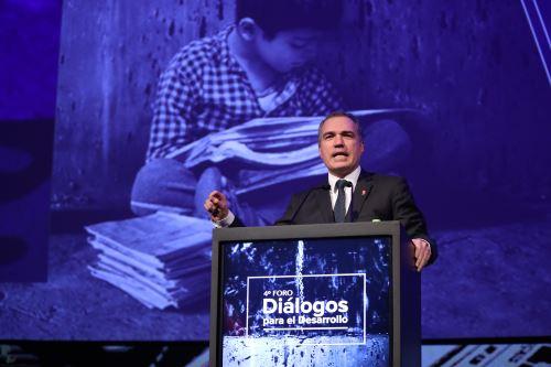 Primer ministro Del Solar clausura  el 4° foro Diálogos para el Desarrollo