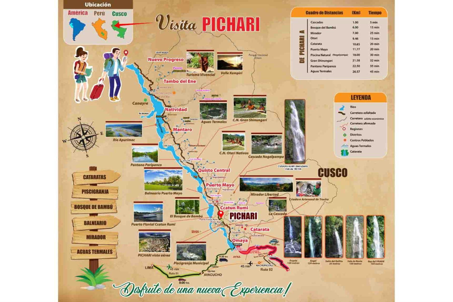 El distrito cusqueño de Pichari ofrece una amplia variedad de atractivos turísticos.