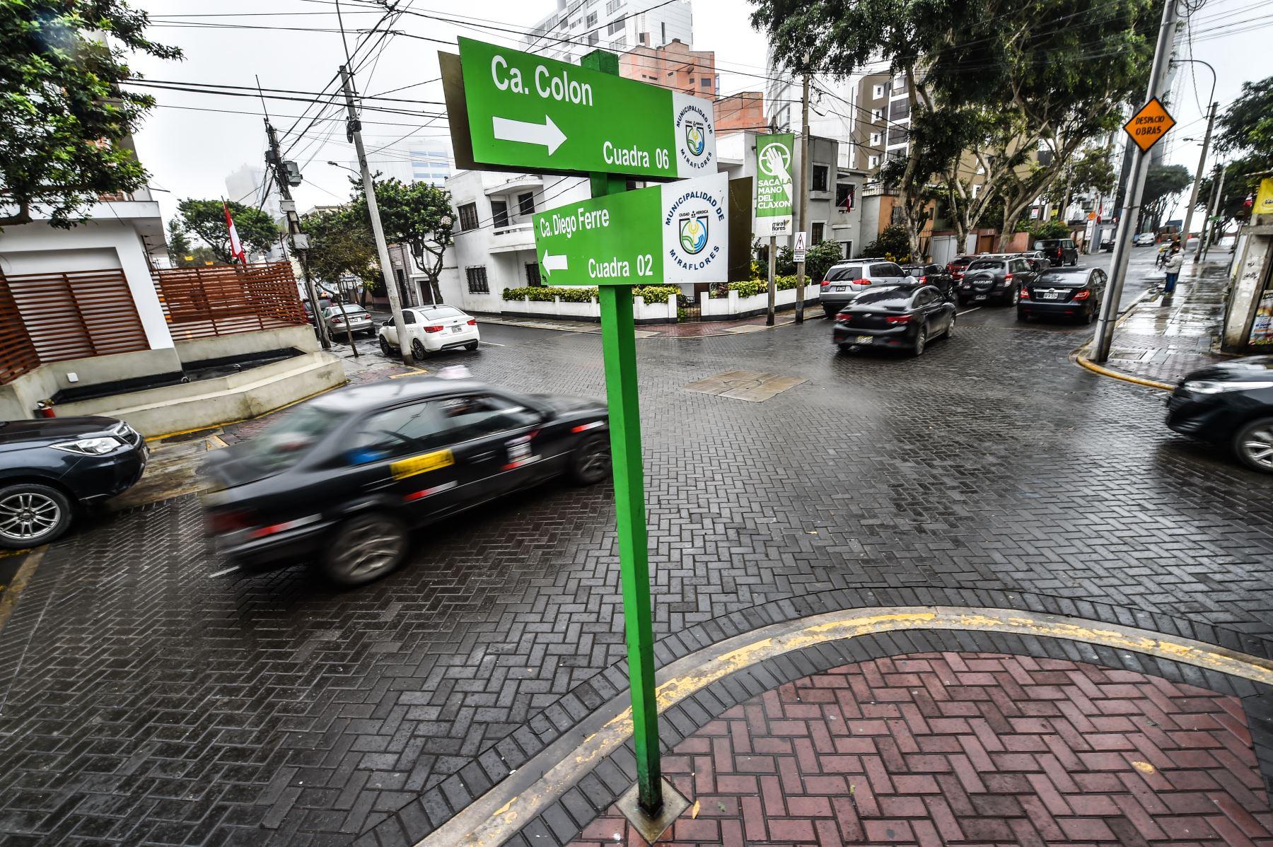 Intersección de la Calle Colon con Calle Diego Ferre, San Isidro  ANDINA/ José Sotomayor