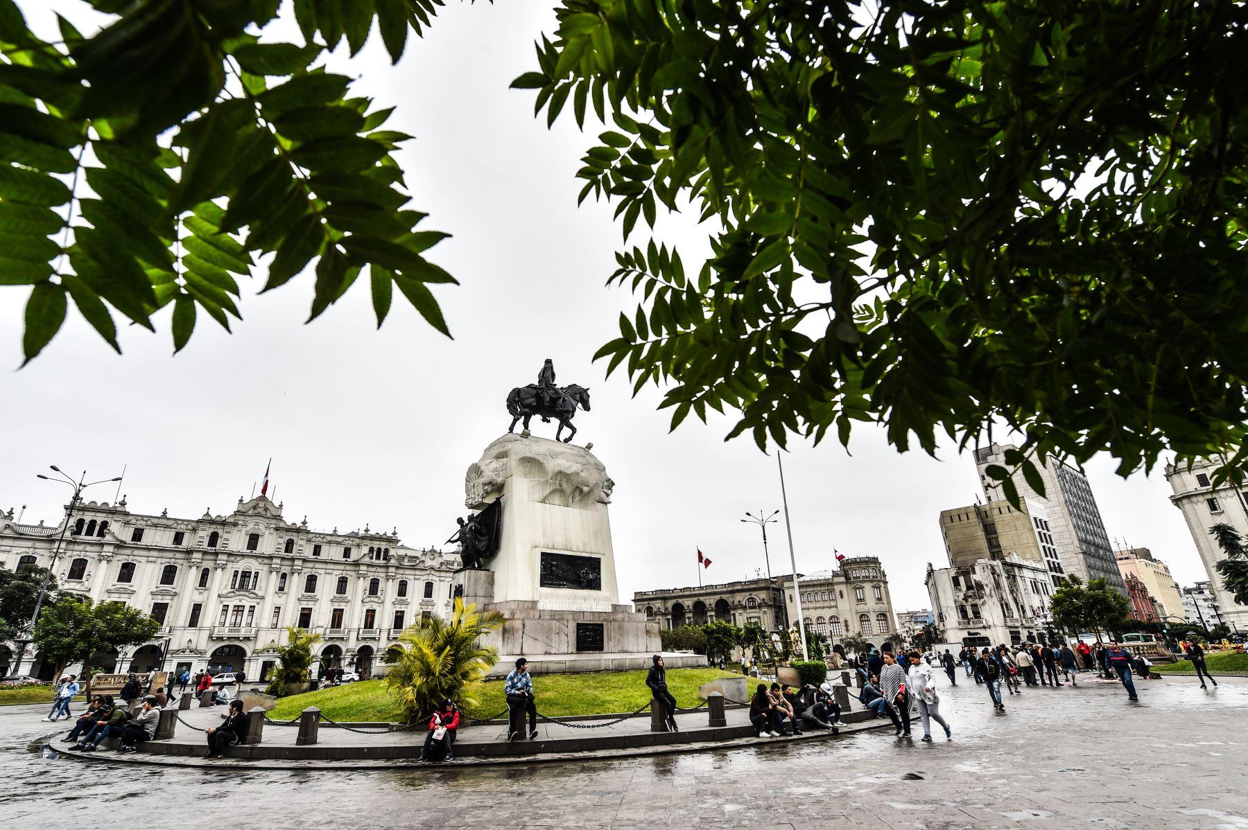 Plaza San Martín, cercado de Lima  ANDINA/ José Sotomayor