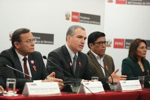 Jefe del Gabinete, Salvador del Solar, brinda conferencia de prensa para abordar temas de coyuntura nacional