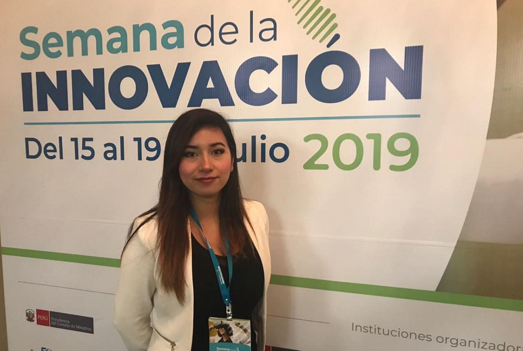Emprendedora Lizia Rivera presentó su proyecto Antartik (ANDINA).