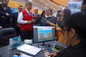 Ministro de Vivienda, Miguel Estrada, en el relanzamiento de la Vitrina Inmobiliaria. ANDINA/Vidal Tarqui