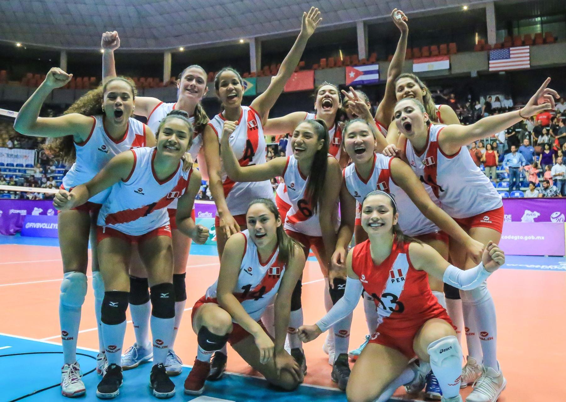 Selección de vóley volvió a reecontrarse con el triunfo. Foto: FIVB.