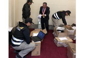 El fiscal Sánchez ingresó al despacho ocupado por Hinostroza Pariachi en el Palacio de Justicia. Andina/Difusión