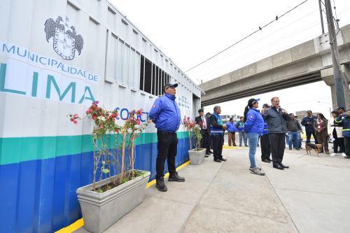 Alcalde de Lima, Jorge Muñoz entregó módulo de seguridad en Av. Aviación
