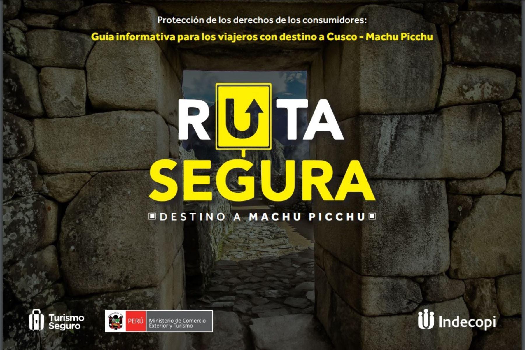 Ruta segura, destino Machu Picchu: estas son las obligaciones de las empresas que ofrecen servicios a los turistas. ANDINA/Difusión