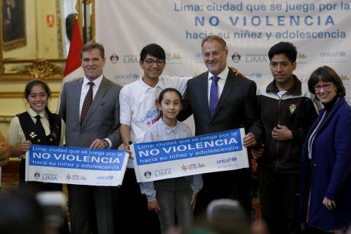 Presentación de la campaña, Lima ciudad que se juega por la no violencia hacia su niñez