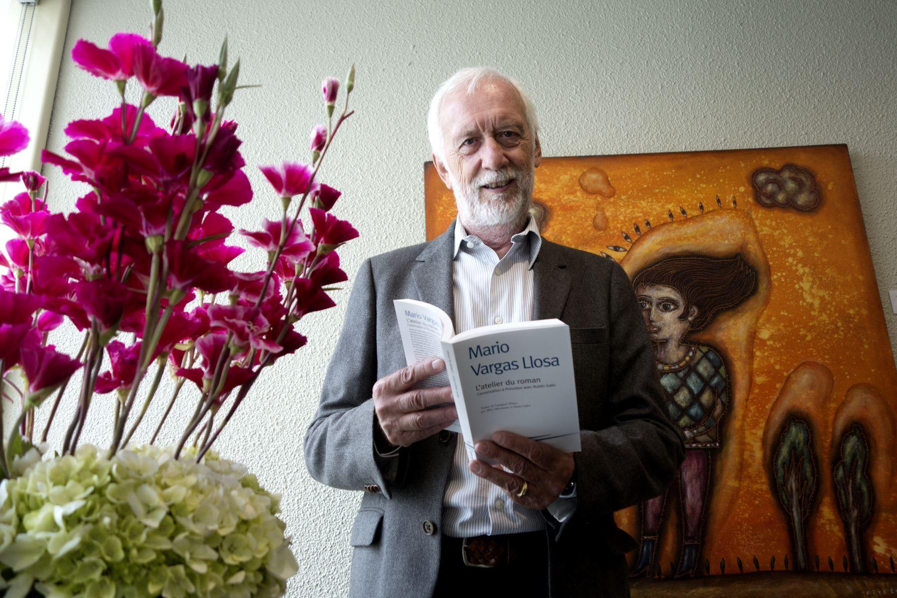 Daniel Lefort, ha traducido al francés cuatro obras recientes de MVLL. Foto: ANDINA/José Vadillo Vila