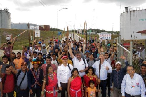 Federaciones amazónicas entregan Estación 5 del Oleoducto norperuano.
