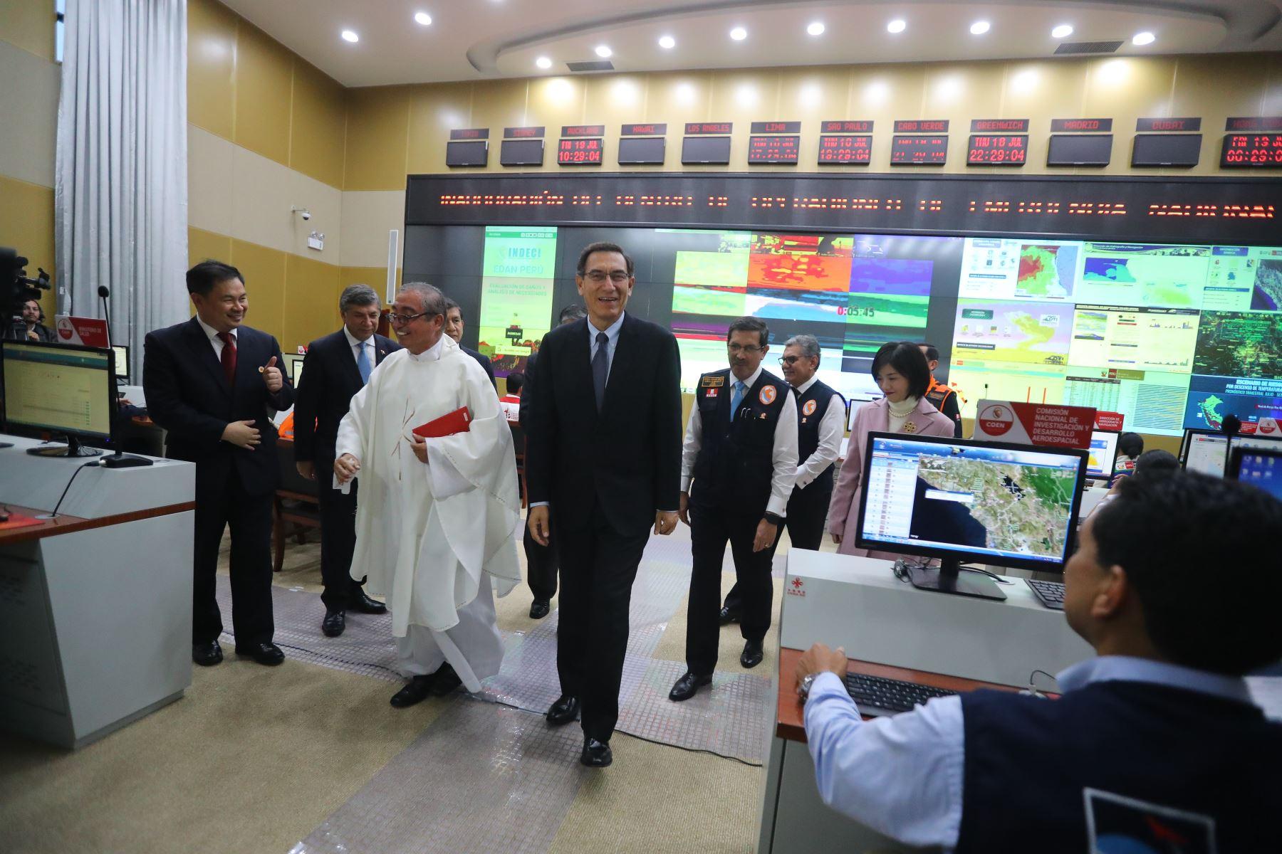 El presidente de la República Martín Vizcarra, participó en la ceremonia de inauguración de las instalaciones del Centro de Operaciones de Emergencia Nacional (Coen), ubicado en el distrito de Chorrillos.Foto:ANDINA/Prensa Presidencia