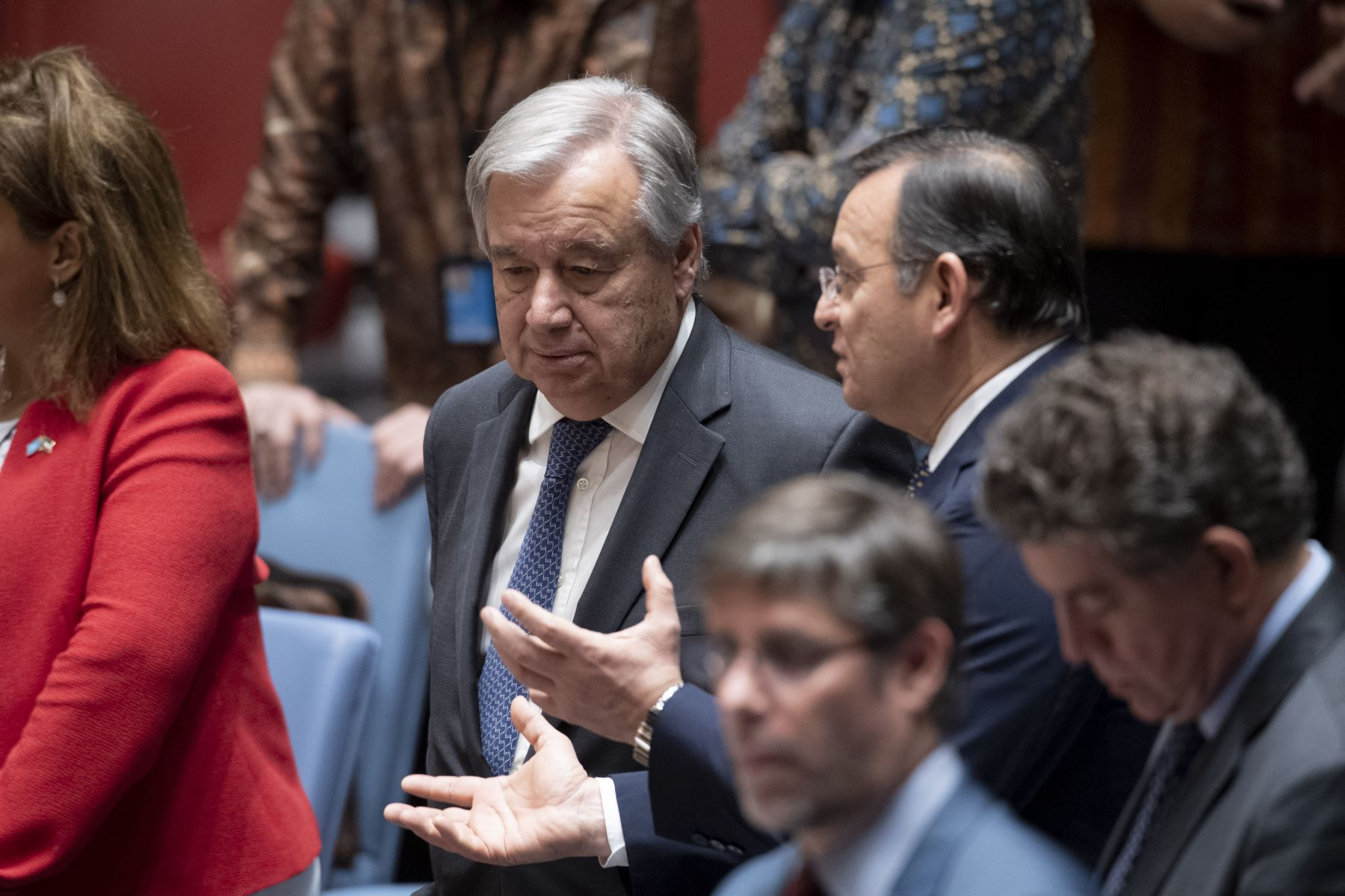 Canciller Nestor Popolizio presidió debate en el Consejo de Seguridad de la ONU.Foto:ANDINA/ONU