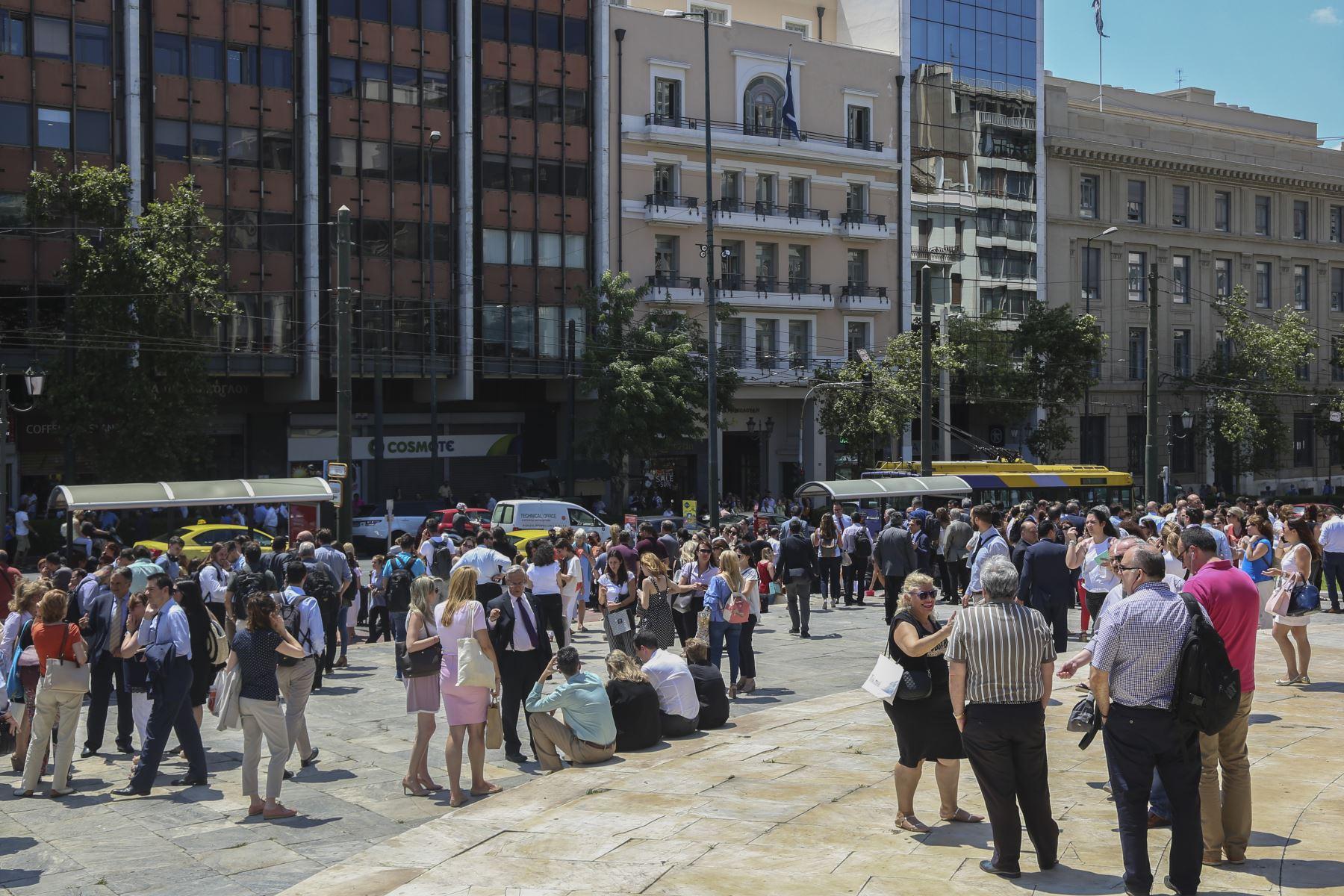 Un terremoto de magnitud 5,1 en la escala de Richter sacudió este mediodía la capital de Grecia. Foto: AFP