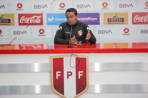 Conferencia de prensa de Nolberto Solano, entrenador de la selección peruana de fútbol sub-23