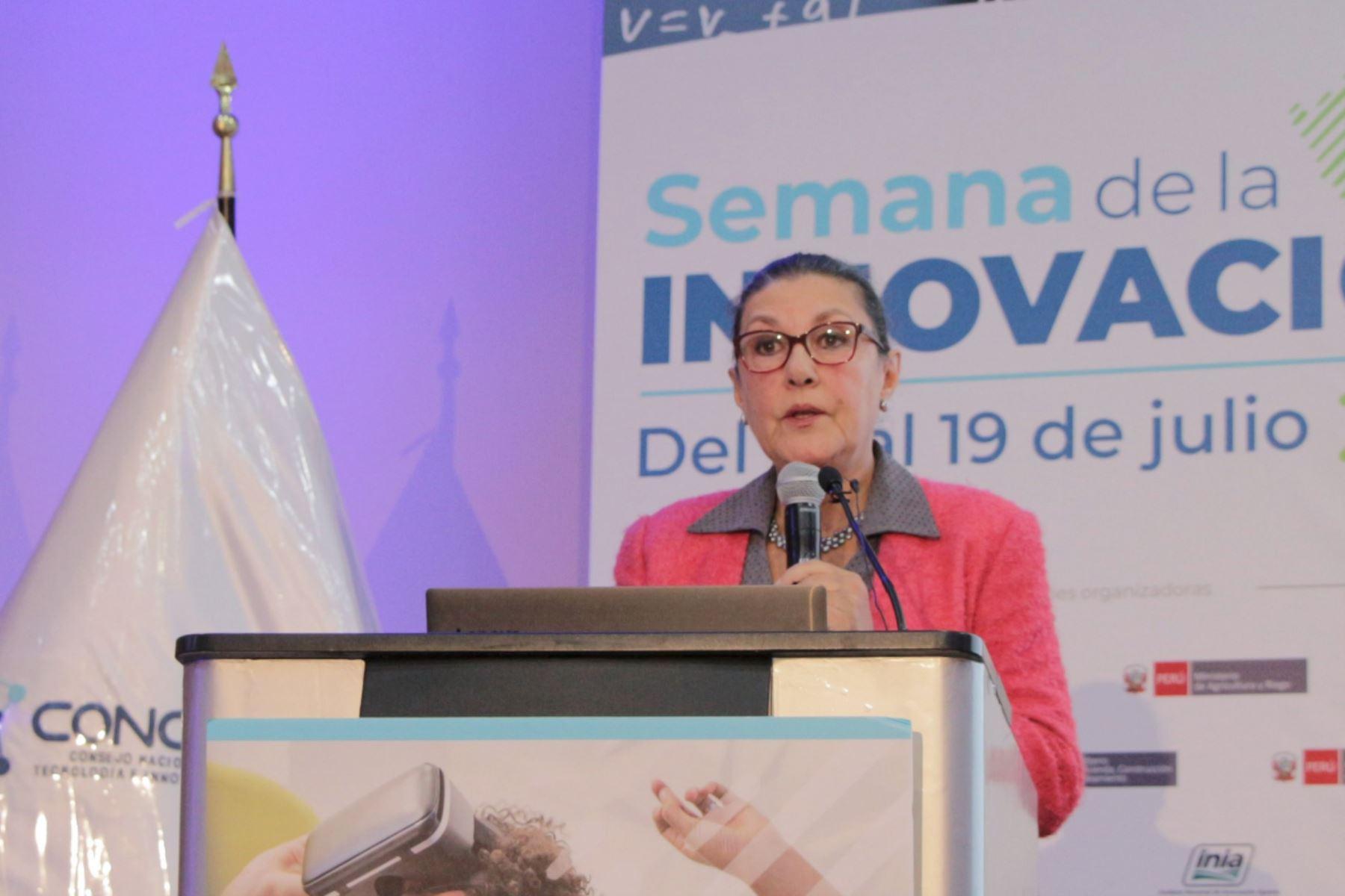 Fabiola León Velarde, participó en la clausura de la Semana Nacional de la Innovación 2019.Foto:ANDINA/Concytec