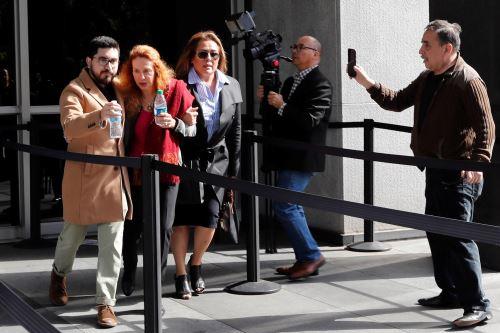Eliane Karp llegó a audiencia de fianza de Alejandro Toledo