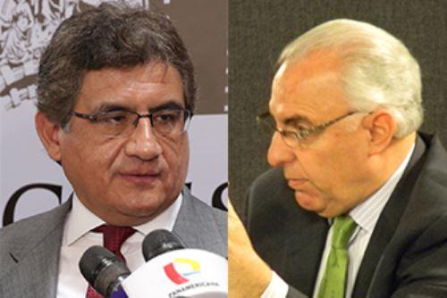 Juan Sheput y Luis Solari. ANDINA/Difusión