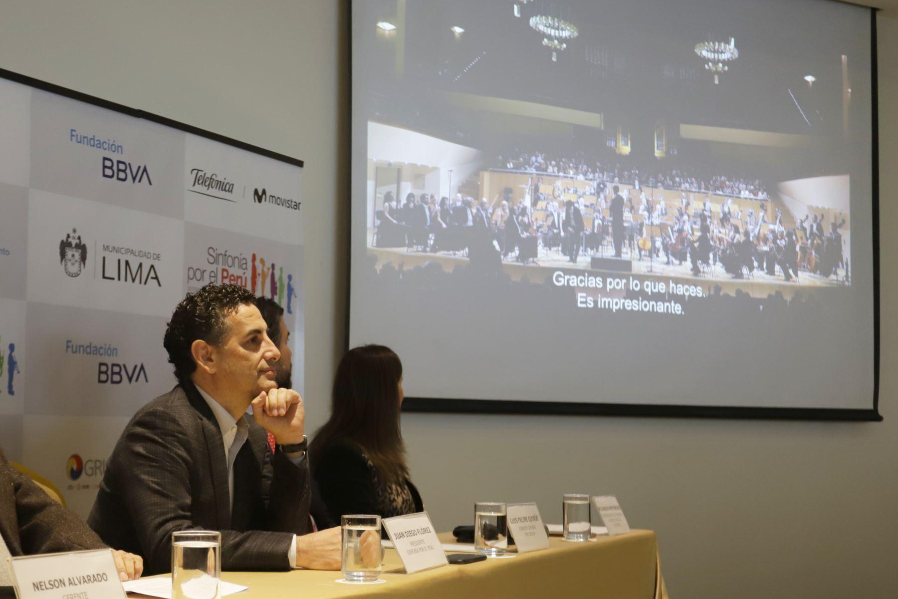 El tenor peruano Juan Diego Flórez y Sinfonía por el Perú anunciaron una Serenata al Perú, en en el marco de la fiestas patrias. Foto: ANDINA/Jorge Tello