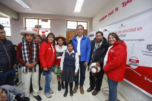 Presidente Vizcarra participa en inicio de proyecto regional de banda ancha en Apurímac