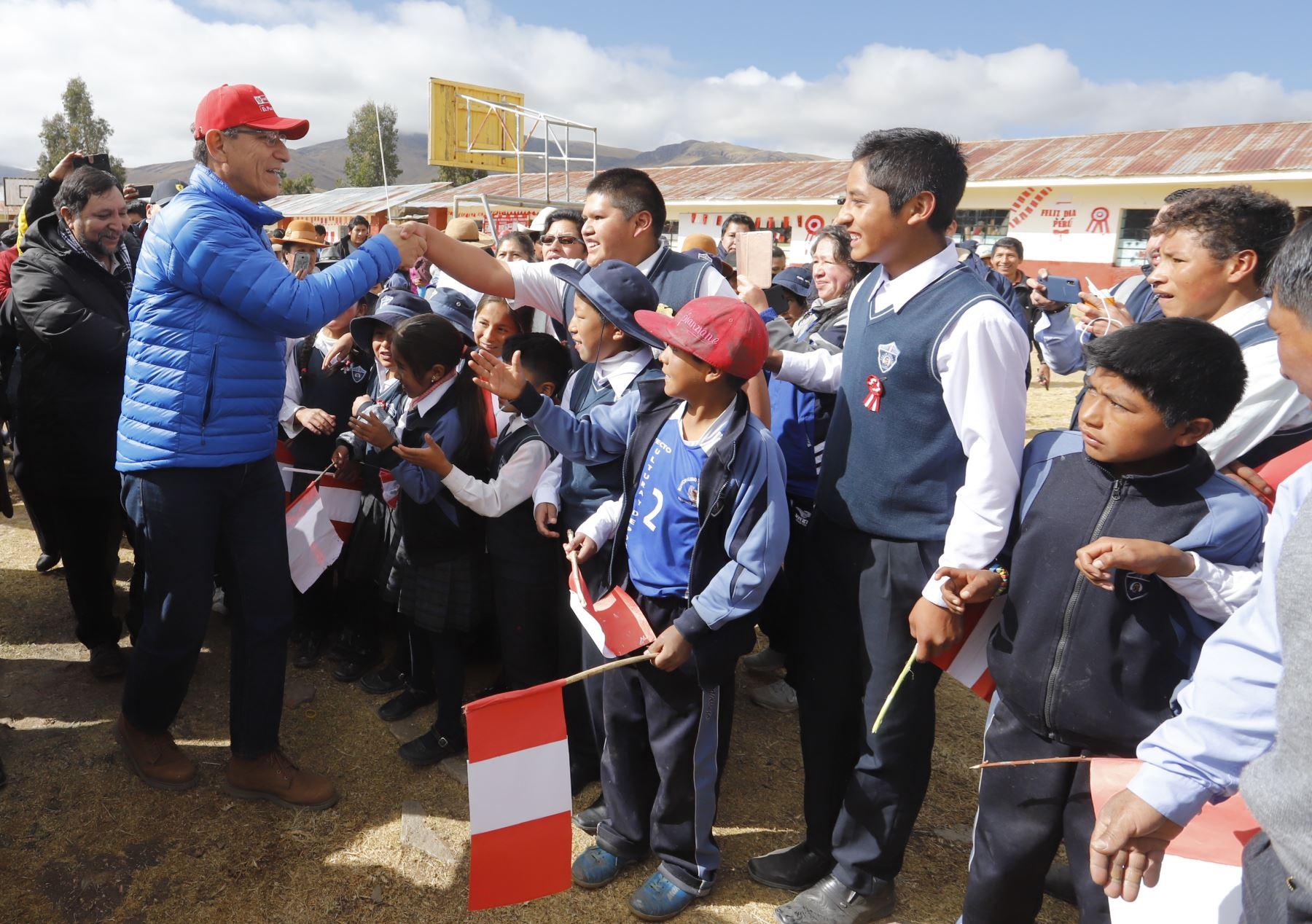 Presidente Vizcarra participa en inicio de proyecto regional de banda ancha en Apurímac. Foto: ANDINA/ Prensa Presidencia
