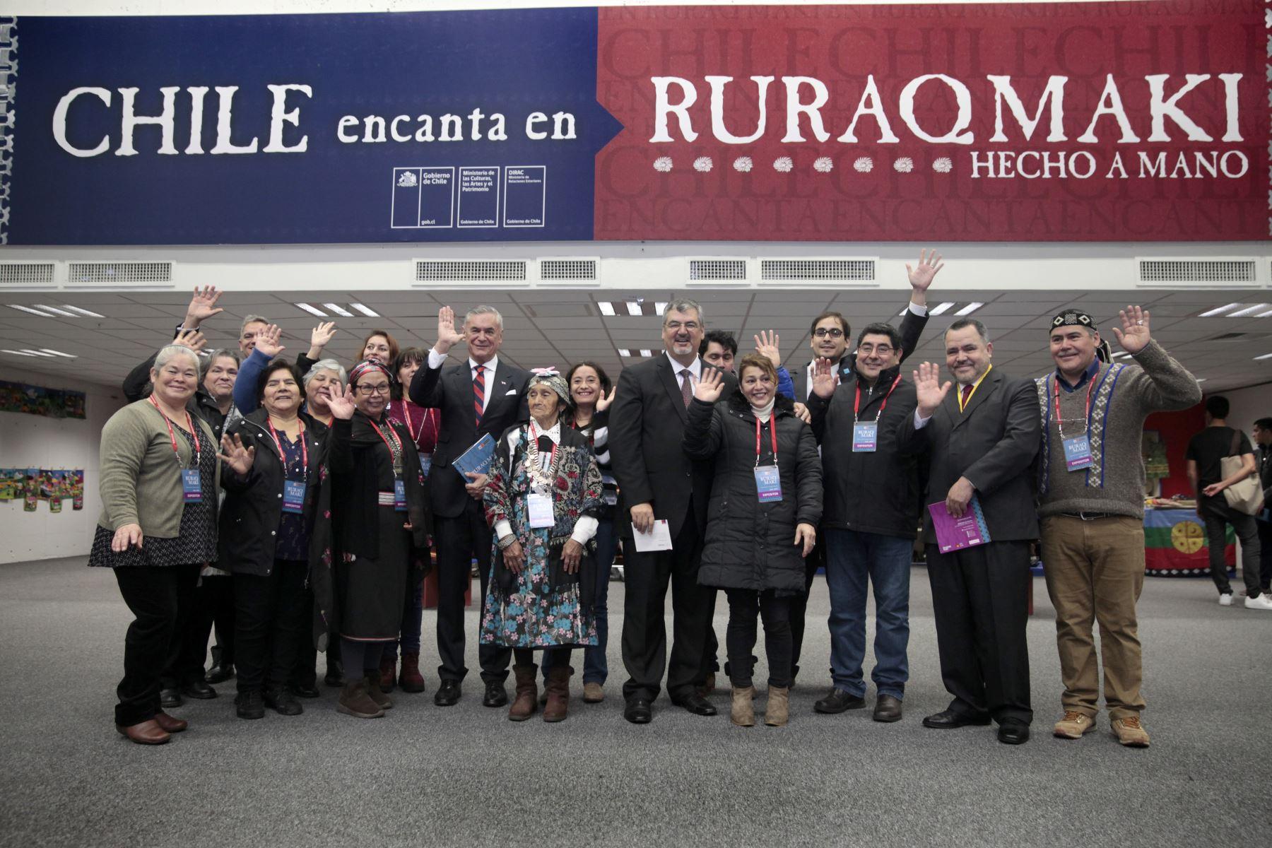 """Chile es el país invitado para presentar a sus artesanos en la Feria Ruraq Maki, """"Hecho a mano"""".Foto: ANDINA/ Miguel Mejía"""