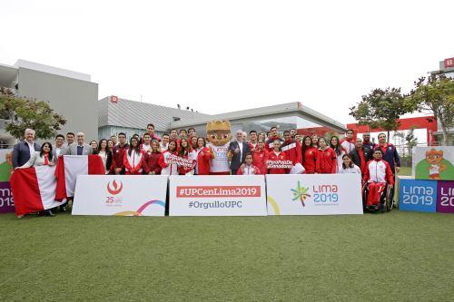Lima 2019 participó en homenaje a deportistas de la UPC que intervendrán en los Juegos Panamericanos