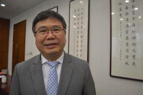 Zhao Bentang, director general de Asuntos Latinoamericanos y del Caribe de la Cancillería de China. Foto: ANDINA/Víctor Véliz.