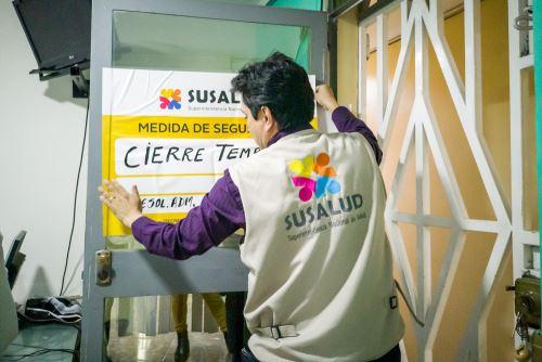 Susalud clausura 20 establecimientos de salud informales en región Lambayeque. ANDINA/Difusión