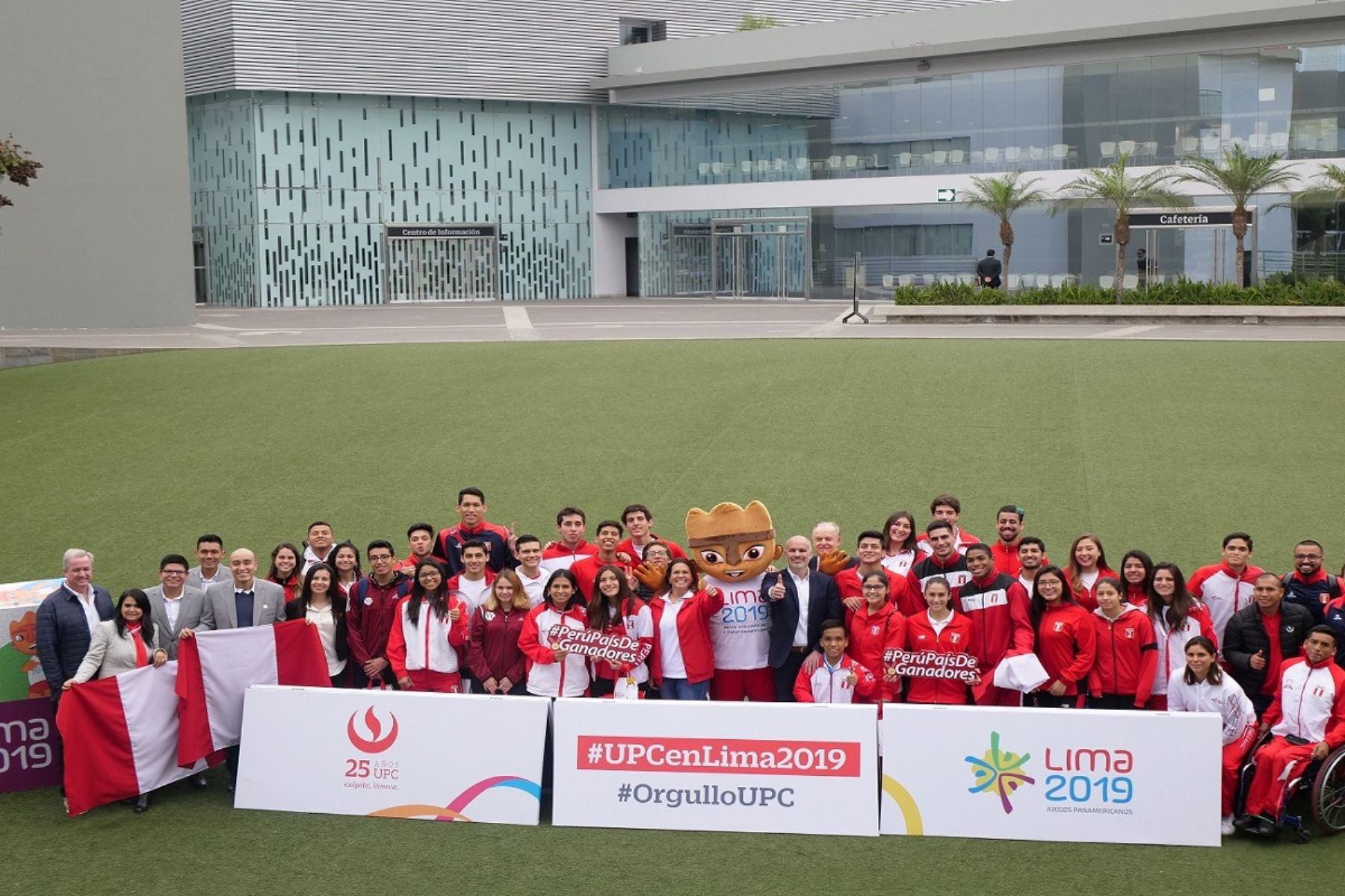 La UPC homenajeó a deportistas que participarán en Lima 2019