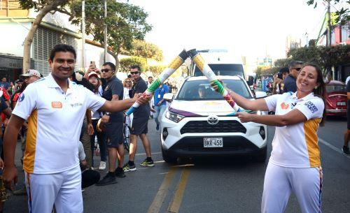 Deportistas y pobladores de Chiclayo recibieron la Antorcha Lima 2019