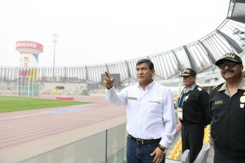 Lima 2019: Ministro  del interior Carlos Morán supervisa las instalaciones del Estadio Nacional, la Videna y el Centro de Operaciones Policial C4