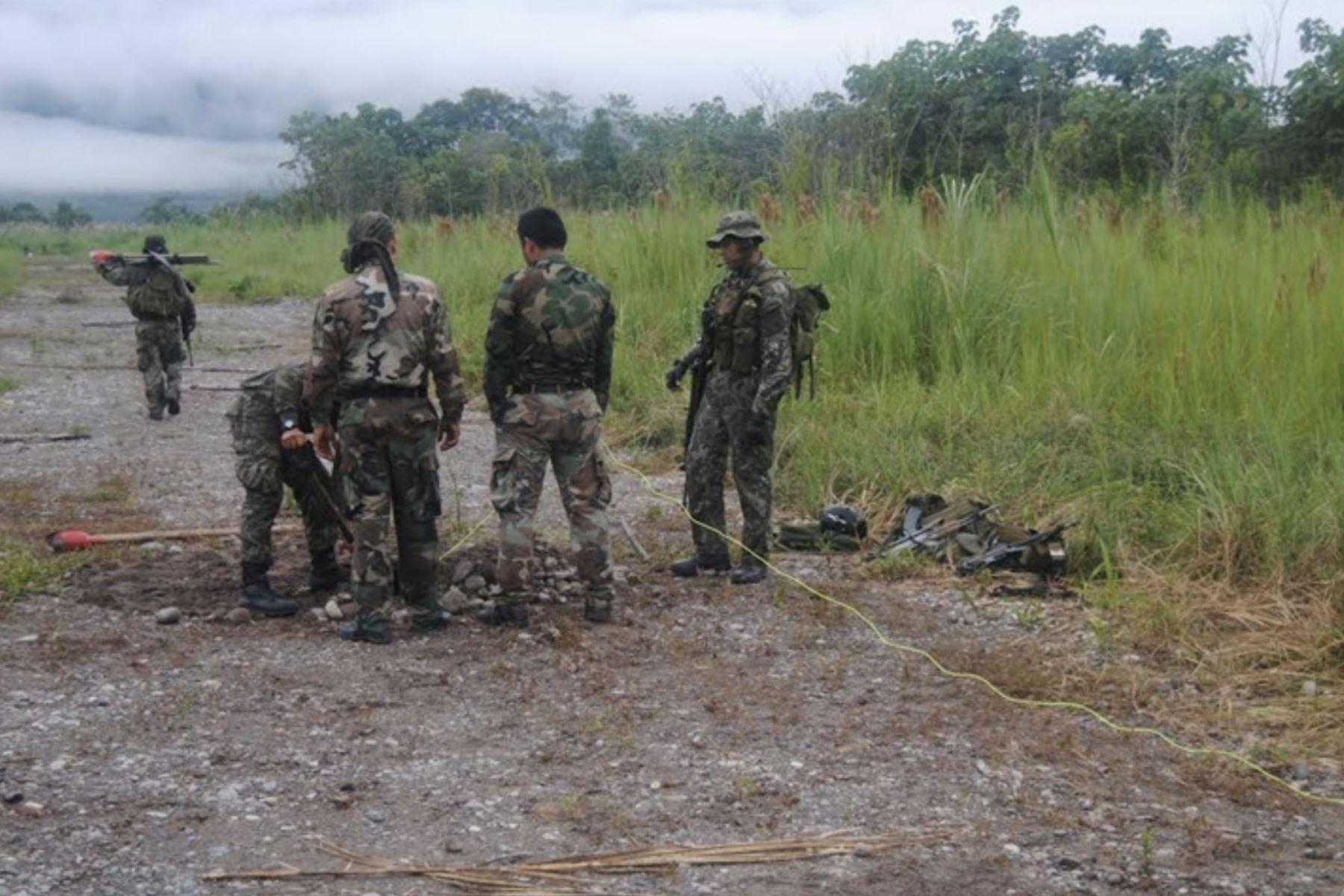 Efectivos de las Fuerzas Armadas y de la Policía Nacional tuvieron un enfrentamiento con una columna terrorista en el Vraem.