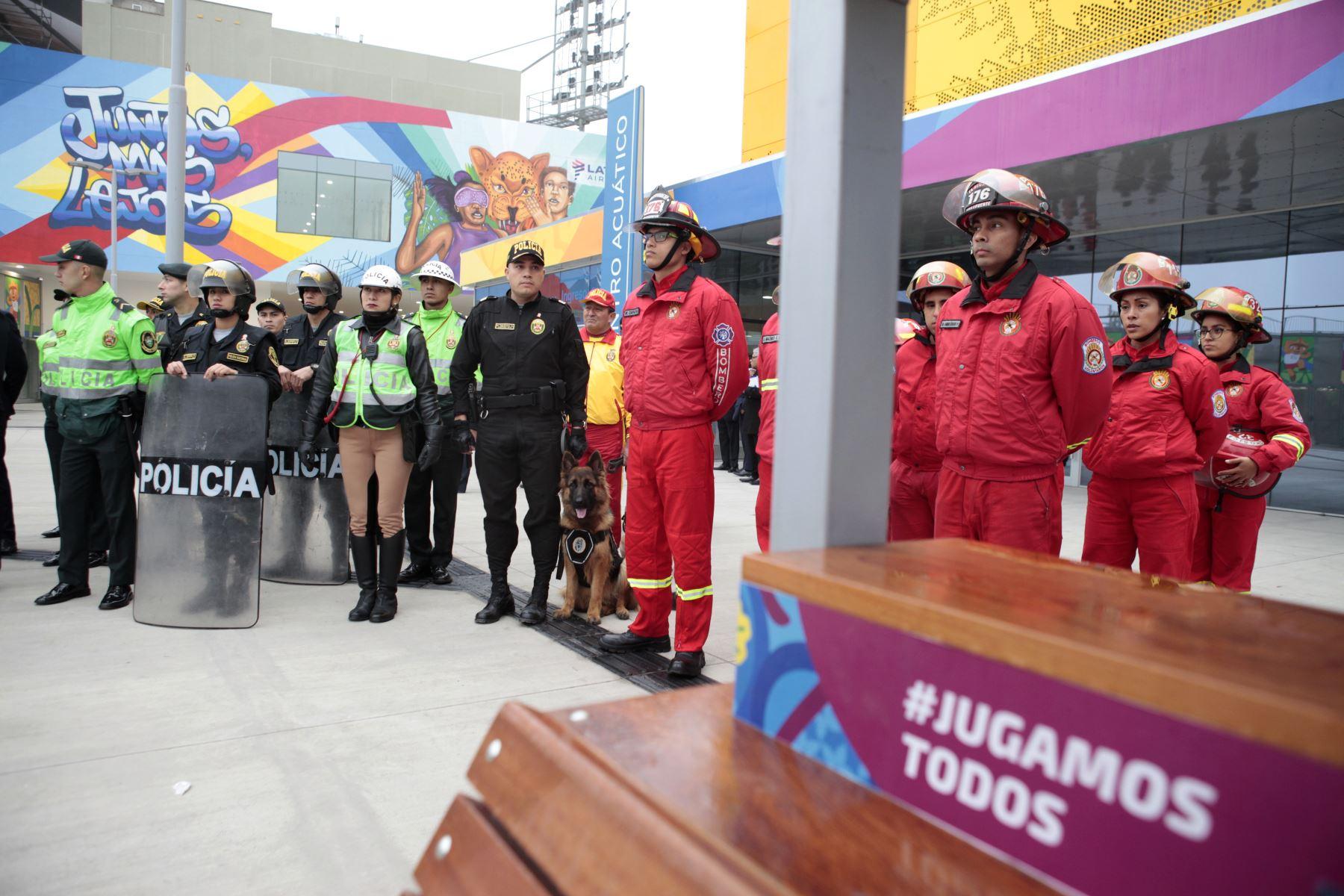 Lima 2019 presenta Plan de Seguridad Intersectorial que integra a las Fuerzas Armadas, la Policía Nacional, el Instituto de Defensa Civil y el Cuerpo General de Bomberos. Foto: ANDINA/ Miguel Mejía Castro