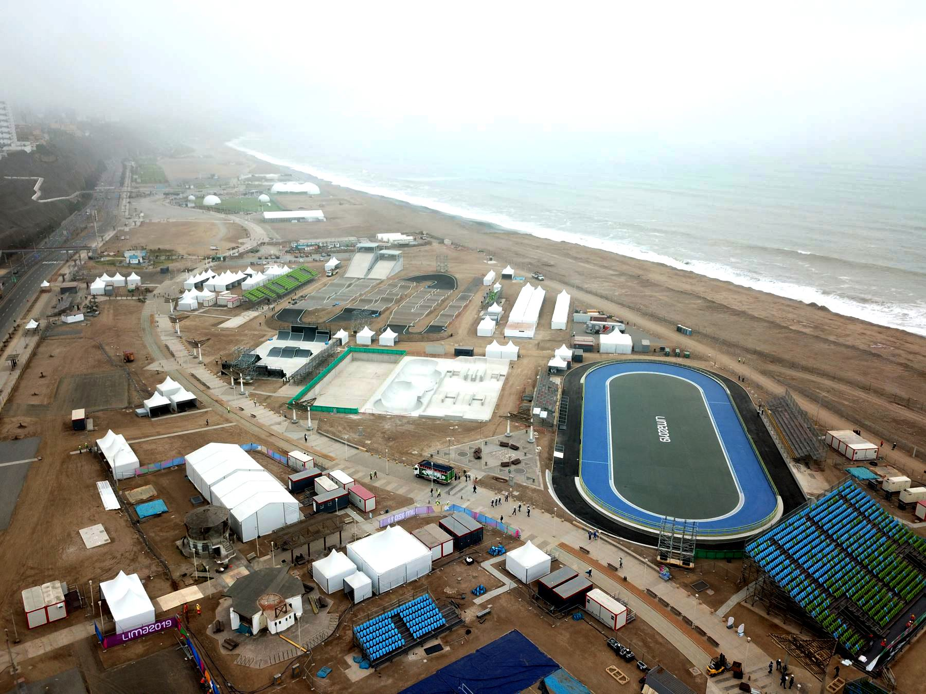 Escenarios donde se desarrollarán las competencias de los Panamericanos Lima 2019 en la Costa Verde.  Foto: ANDINA/Juan Carlos Guzmán Negrini.