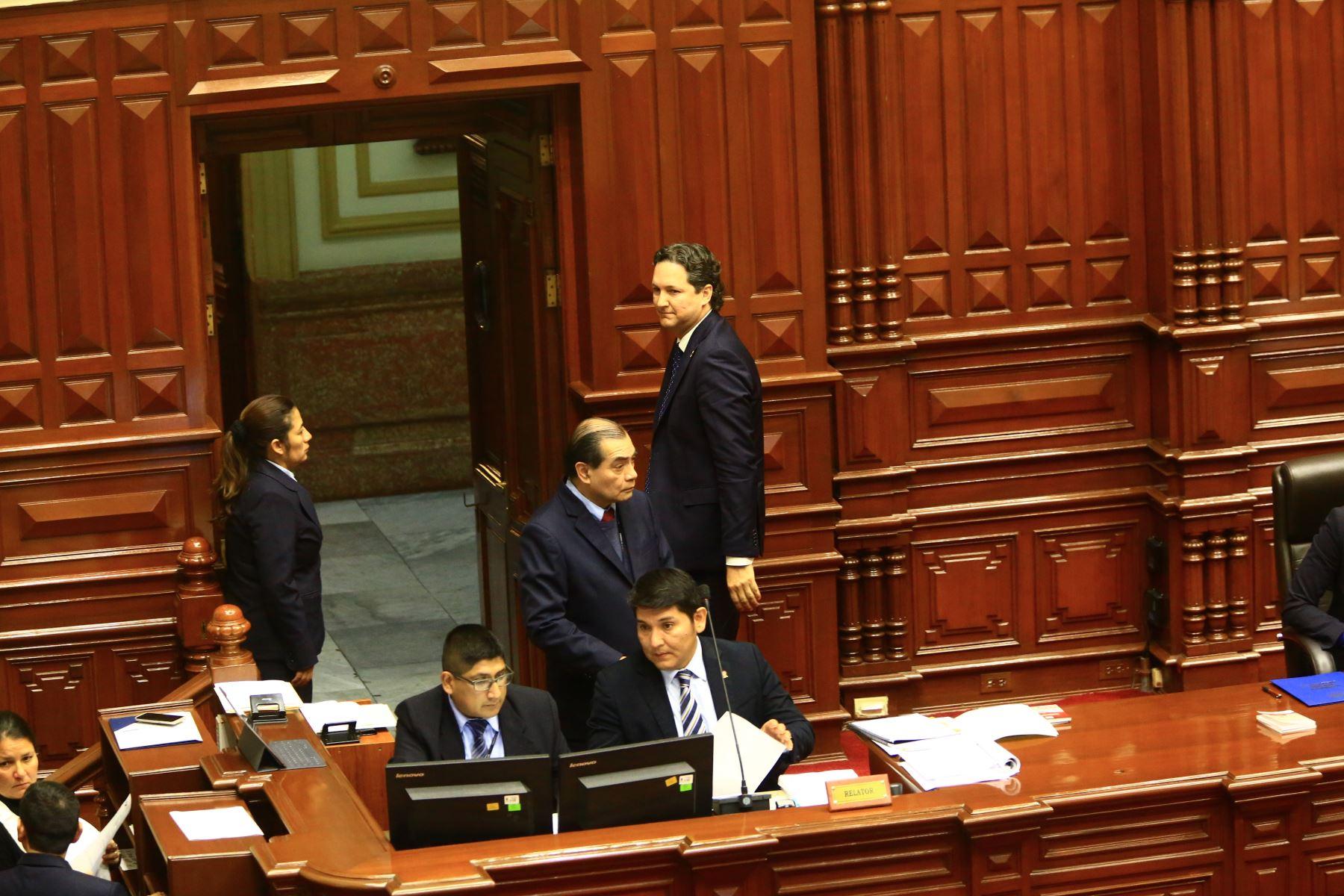 Pleno del Congreso debate los Proyectos de Reforma Política presentadas por el poder Ejecutivo. Foto: Andina/Pedro Cárdenas