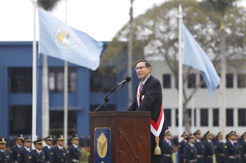 Presidente Martín Vizcarra asiste al desfile por el Día de la Fuerza Aérea del Perú