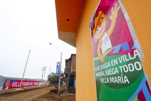 Villa María del Triunfo se pinta de Panamericanos