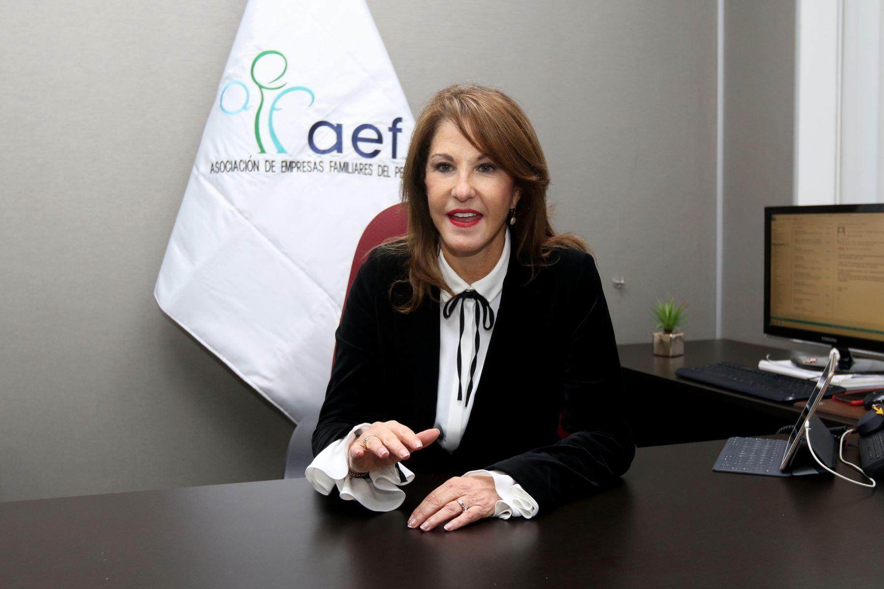 Presidenta de la Asociación de Empresas Familiares (AEF) y directora del grupo Maquinarias, Mariana Garland.