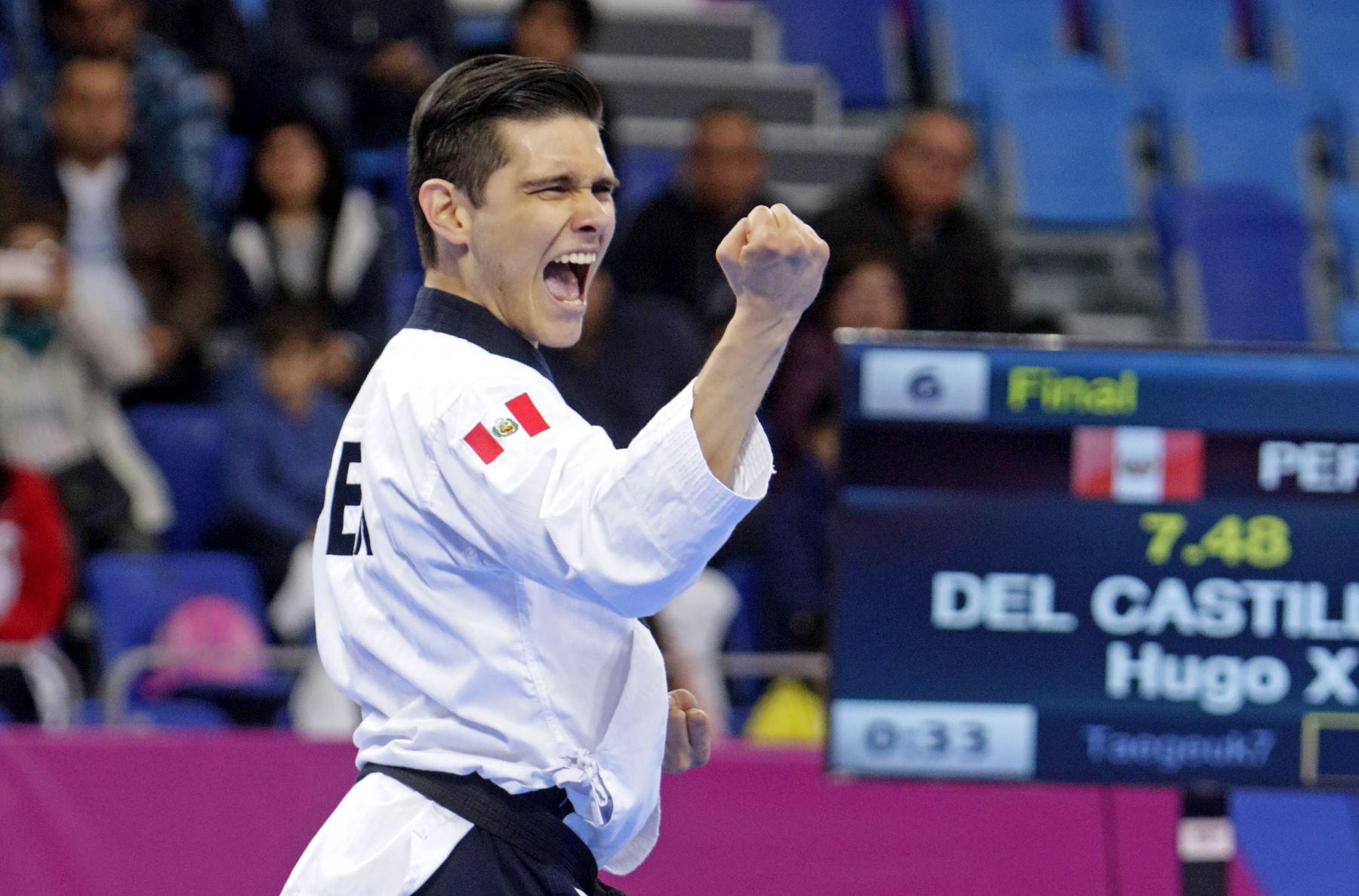Hugo Del Castillo ganó la medalla de plata. ANDINA/ Lima 2019