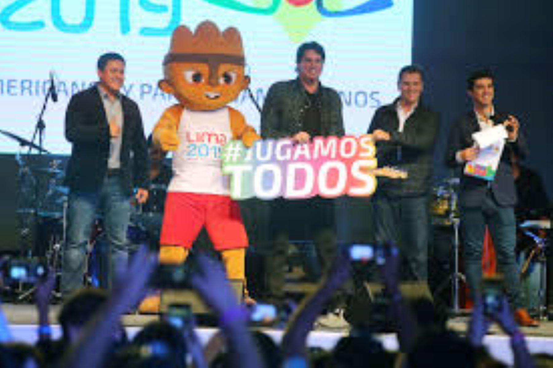 """La canción """"Juguemos todos"""" fue interpretada por artistas peruanos la noche de la inauguración de los Juegos Panamericanos Lima 2019."""