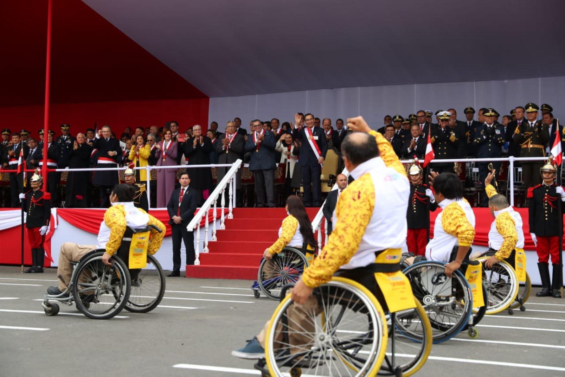 Medallistas peruanos de los Panamericanos 2019 se suman al Desfile Cívico Militar por Fiestas patrias.Foto: ANDINA/Prensa Presidencia