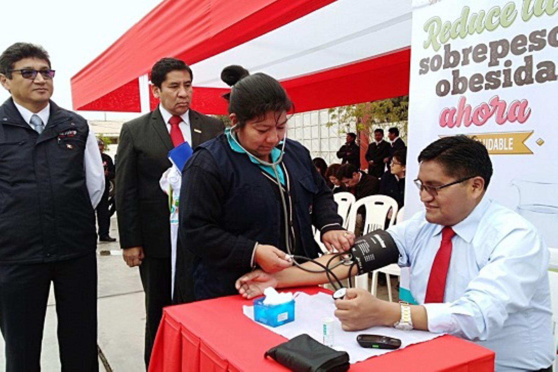 La Dirección Regional de Salud Tacna informó que el 20 % de la población tacneña es afectada por la diabetes e hipertensión.