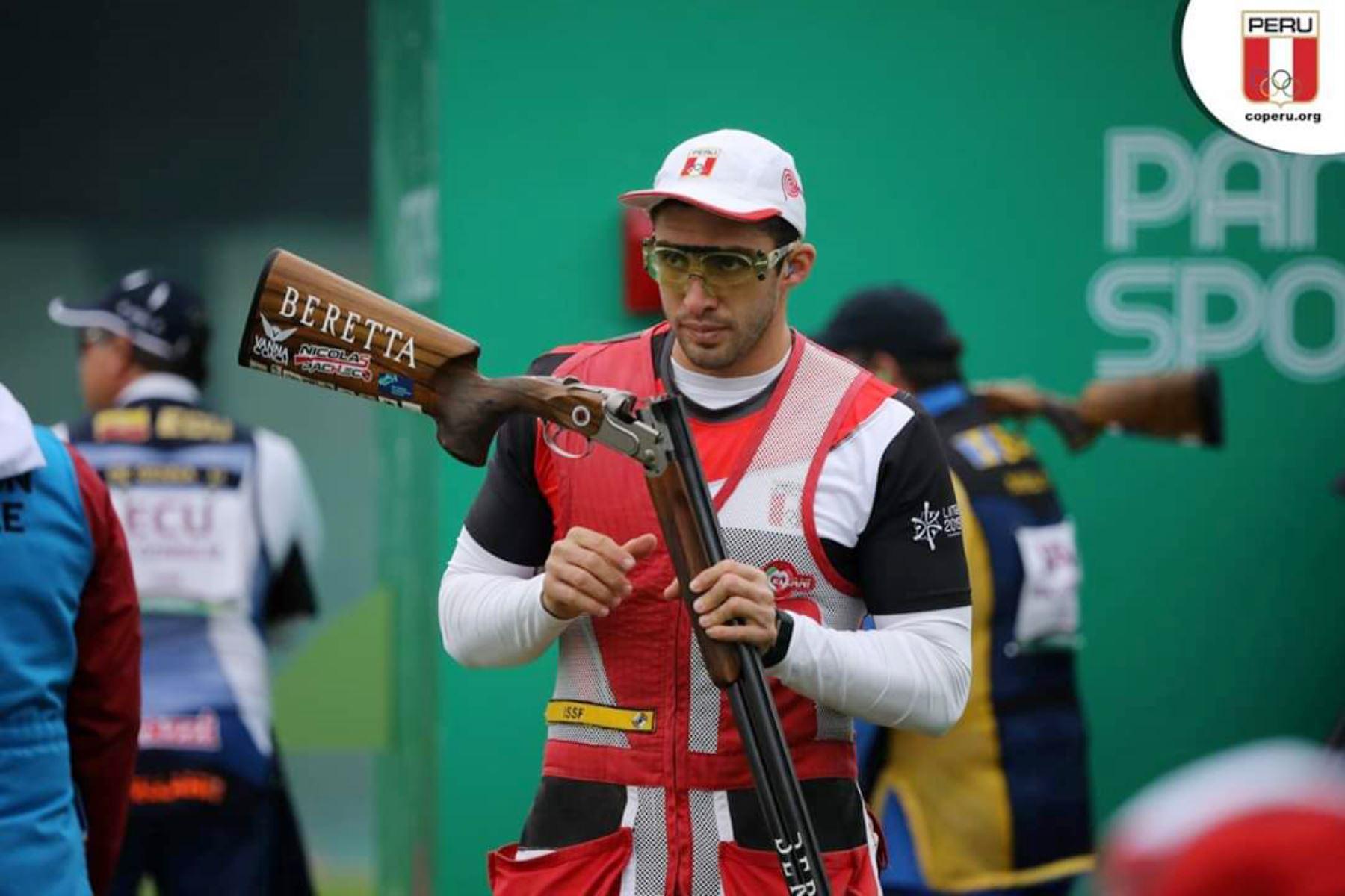 Nicolás Pacheco logra medalla de bronce en Tiro en los Juegos Panamericanos Lima 2019. Foto: Lima 2019