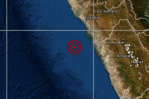 Un sismo de magnitud 4.7 se registró esta mañana en la ciudad de Chimbote, capital de la provincia del Santa, en la región Áncash, informó el Instituto Geofísico del Perú (IGP). ANDINA/Difusión