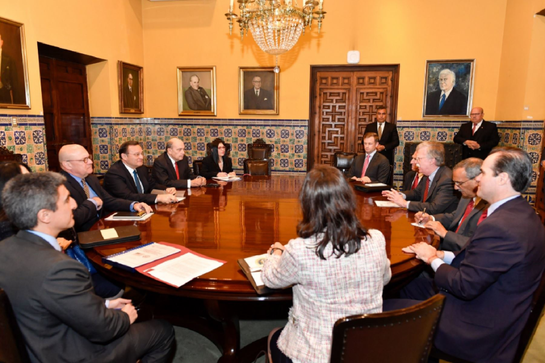 Canciller Nestor Popolizio se reúne con Consejero de Seguridad Nacional de Estados Unidos