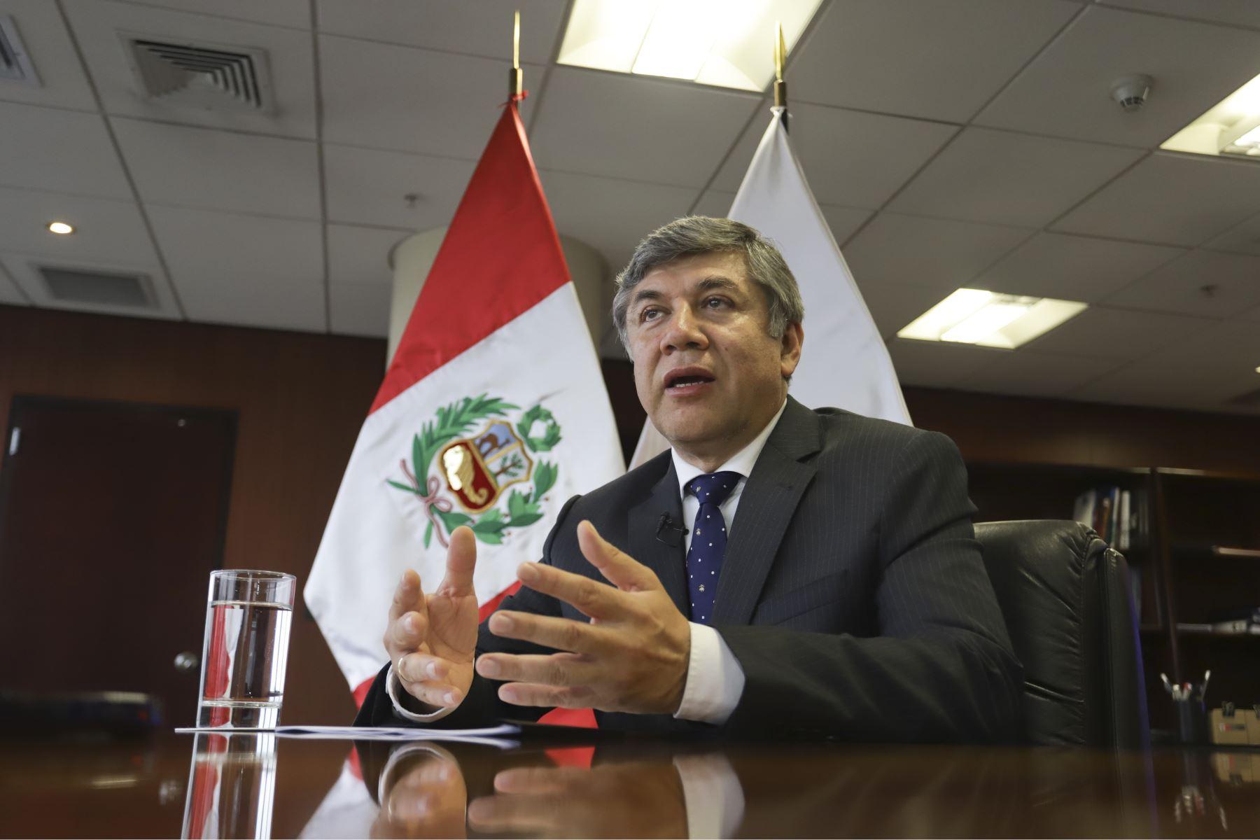 Ministro de Vivienda, Construcción y Saneamiento, Miguel Estrada. Foto: ANDINA/Jorge Tello.