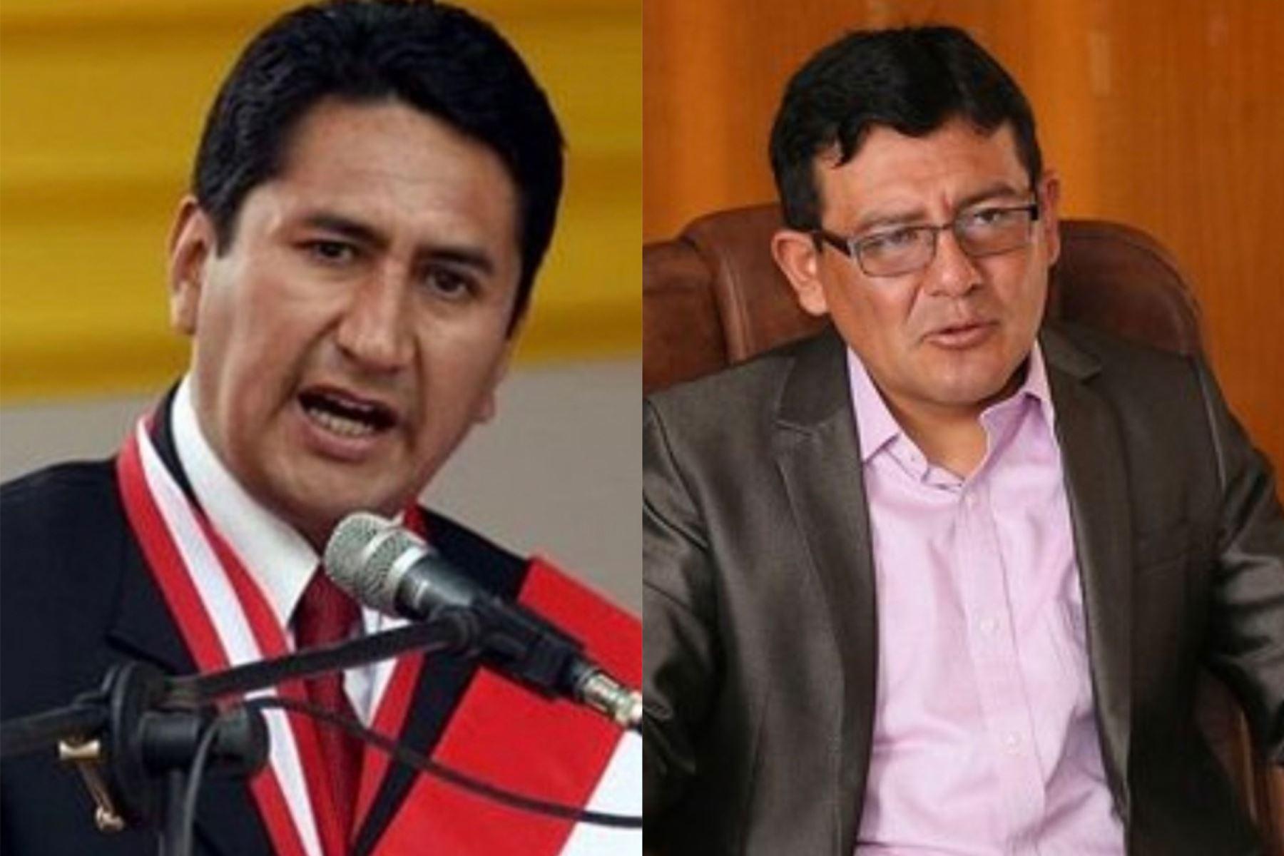 El gobernador regional de Junín, Vladimir Cerrón, y el alcalde provincial de Huancayo, Henry López, fueron condenados hoy a cuatro años y ocho meses de prisión efectiva.