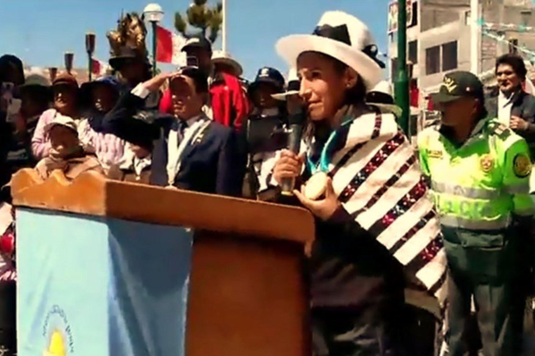 Junín rindió homenaje a su hija predilecta Gladys Tejeda, medallista de oro en los Juegos Panamericanos Lima 2019.