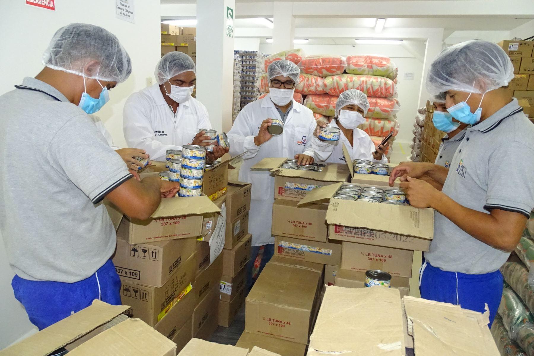 Qali Warma distribuirá 900 toneladas de alimentos para colegios de Lambayeque. ANDINA/Difusión